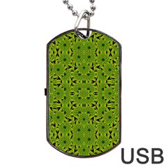 Geometric African Print Dog Tag Usb Flash (one Side) by dflcprints
