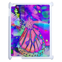 Psychedelic Butterfly Apple Ipad 2 Case (white) by MichaelMoriartyPhotography
