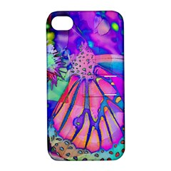 Psychedelic Butterfly Apple Iphone 4/4s Hardshell Case With Stand by MichaelMoriartyPhotography