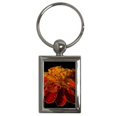 Marigold On Black Key Chains (rectangle)  by MichaelMoriartyPhotography