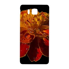 Marigold on Black Samsung Galaxy Alpha Hardshell Back Case by MichaelMoriartyPhotography