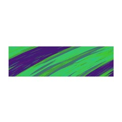 Swish Green Blue Satin Scarf (Oblong) by BrightVibesDesign