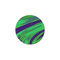 Swish Green Blue Golf Ball Marker by BrightVibesDesign