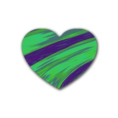 Swish Green Blue Heart Coaster (4 pack)  by BrightVibesDesign