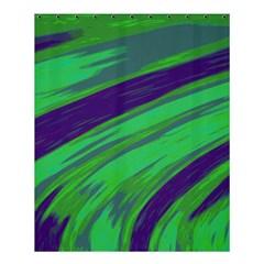 Swish Green Blue Shower Curtain 60  X 72  (medium)  by BrightVibesDesign