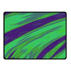Swish Green Blue Double Sided Fleece Blanket (small)  by BrightVibesDesign