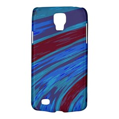 Swish Blue Red Galaxy S4 Active by BrightVibesDesign