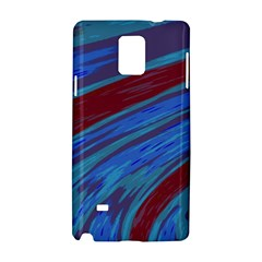 Swish Blue Red Samsung Galaxy Note 4 Hardshell Case by BrightVibesDesign