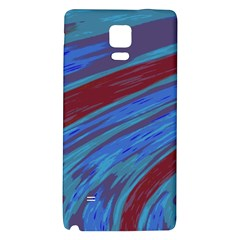 Swish Blue Red Galaxy Note 4 Back Case by BrightVibesDesign