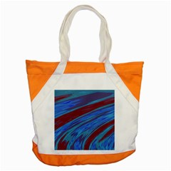Swish Blue Red Abstract Accent Tote Bag by BrightVibesDesign