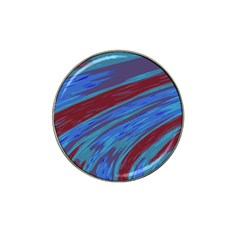 Swish Blue Red Abstract Hat Clip Ball Marker (4 Pack) by BrightVibesDesign