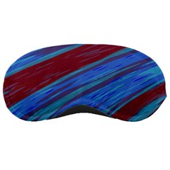 Swish Blue Red Abstract Sleeping Masks by BrightVibesDesign