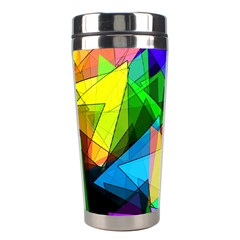 Colorful Triangles                                                                  Stainless Steel Travel Tumbler by LalyLauraFLM
