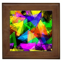 Colorful Triangles                                                                  			framed Tile by LalyLauraFLM