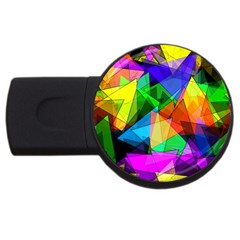 Colorful Triangles                                                                  			usb Flash Drive Round (2 Gb) by LalyLauraFLM