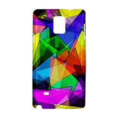 Colorful Triangles                                                                  samsung Galaxy Note 4 Hardshell Case by LalyLauraFLM