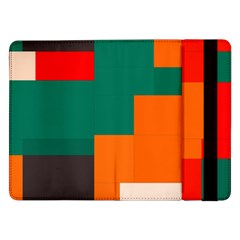 Rectangles And Squares  In Retro Colors                                                                   			samsung Galaxy Tab Pro 12 2  Flip Case by LalyLauraFLM
