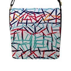Strokes                                                                    			flap Closure Messenger Bag (l) by LalyLauraFLM