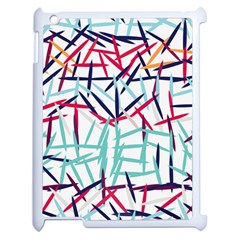 Strokes                                                                    			Apple iPad 2 Case (White) by LalyLauraFLM
