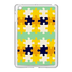 Puzzle Pieces                                                                     			apple Ipad Mini Case (white) by LalyLauraFLM