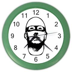 Baldhead Hero Comic Illustration Color Wall Clocks by dflcprints