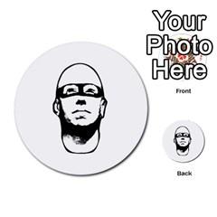 Baldhead Hero Comic Illustration Multi Purpose Cards (round)  by dflcprints