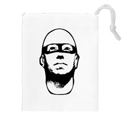 Baldhead Hero Comic Illustration Drawstring Pouches (xxl) by dflcprints