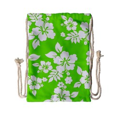 Lime Hawaiian Drawstring Bag (Small)