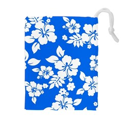 Blue Hawaiian Drawstring Pouches (Extra Large) by AlohaStore
