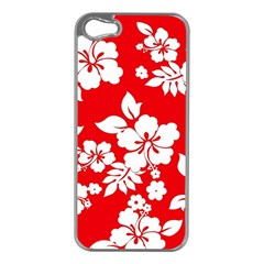 Red Hawaiian Apple Iphone 5 Case (silver) by AlohaStore