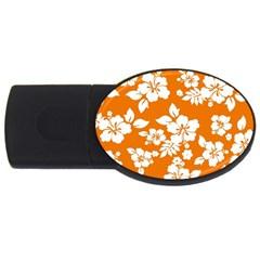 Orange Hawaiian Usb Flash Drive Oval (2 Gb)  by AlohaStore