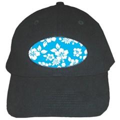 Light Blue Hawaiian Black Cap by AlohaStore