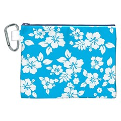 Light Blue Hawaiian Canvas Cosmetic Bag (xxl) by AlohaStore