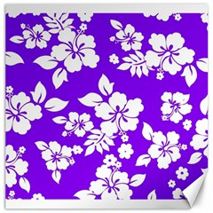 Violet Hawaiian Canvas 16  X 16   by AlohaStore