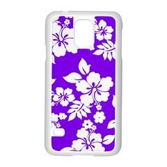 Violet Hawaiian Samsung Galaxy S5 Case (white) by AlohaStore
