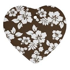 Sepia Hawaiian Ornament (Heart)  by AlohaStore