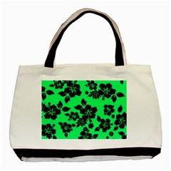 Dark Lime Hawaiian Basic Tote Bag by AlohaStore