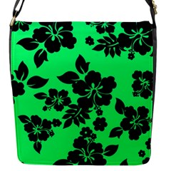 Dark Lime Hawaiian Flap Messenger Bag (s) by AlohaStore
