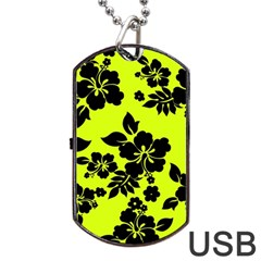 Dark Hawaiian Dog Tag Usb Flash (one Side) by AlohaStore