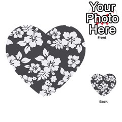 Gray Hawaiian Multi Purpose Cards (heart)  by AlohaStore