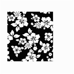 Black And White Hawaiian Large Garden Flag (two Sides) by AlohaStore