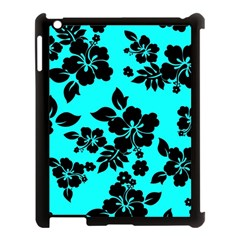 Blue Dark Hawaiian Apple Ipad 3/4 Case (black) by AlohaStore