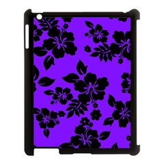 Violet Dark Hawaiian Apple Ipad 3/4 Case (black) by AlohaStore