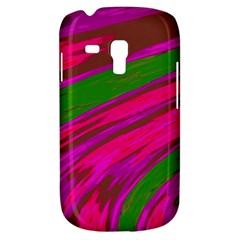 Swish Bright Pink Green Design Samsung Galaxy S3 Mini I8190 Hardshell Case by BrightVibesDesign