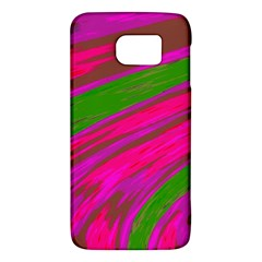 Swish Bright Pink Green Design Galaxy S6 by BrightVibesDesign