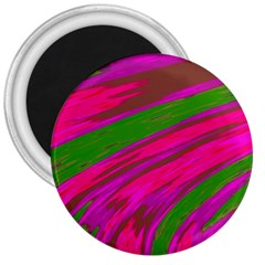 Swish Bright Pink Green Design 3  Magnets by BrightVibesDesign