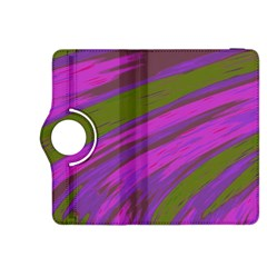 Swish Purple Green Kindle Fire HDX 8.9  Flip 360 Case by BrightVibesDesign