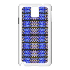 Pattern Tile Blue White Green Samsung Galaxy Note 3 N9005 Case (white) by BrightVibesDesign