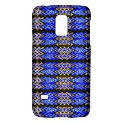 Pattern Tile Blue White Green Galaxy S5 Mini by BrightVibesDesign