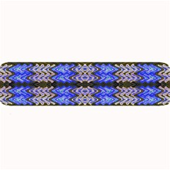 Pattern Tile Blue White Green Large Bar Mats by BrightVibesDesign